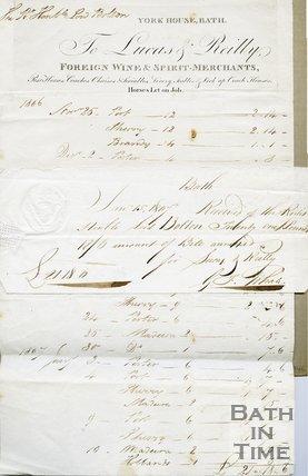 Trade Card for LUCAS & Reilly York House George Street, Bath 1806-7
