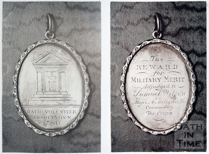 Silver medal of the Bath Volunteer Association, 1780 (both sides)
