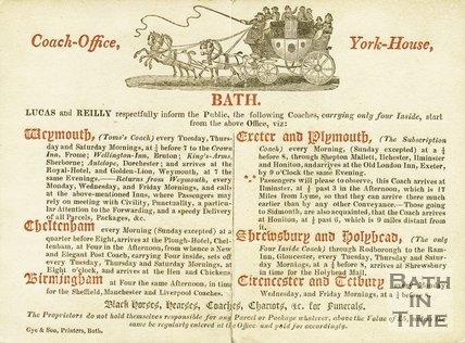 Trade Card for LUCAS & Reilly York House George Street, Bath 18??