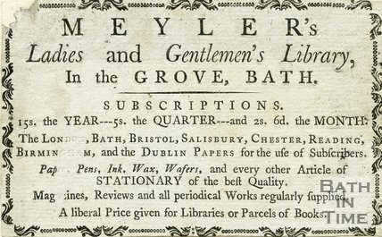 Trade Card for MEYLER's Orange Grove, Bath 1781