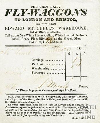 Trade Card for Edward MITCHELL's Saw Close, Bath 1823