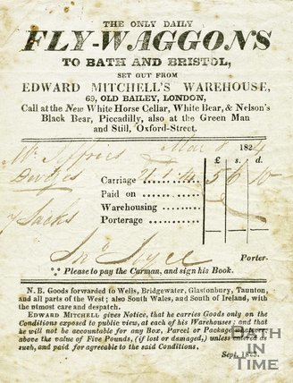 Trade Card for Edward MITCHELL's Saw Close, Bath 1824