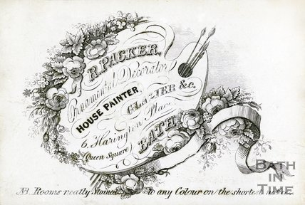 Trade Card for R. PACKER 6 Harington Place, Queen Square, Bath