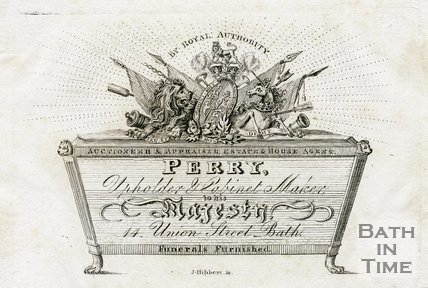 Trade Card for T. PERRY 14 Union Street, Bath 1819?