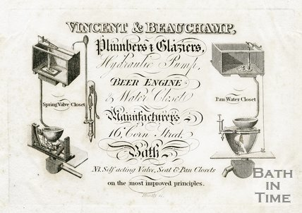 Trade Card for VINCENT & Beauchamp 16 Corn Street, Bath 1812