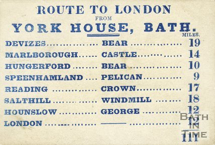 Trade Card for YORK House see also LUCAS & Reilly, George Street, Bath 1840