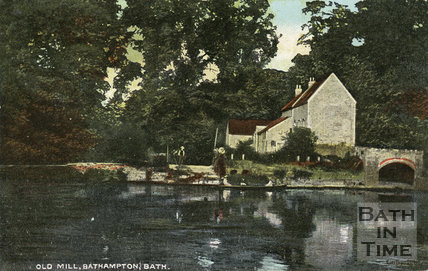 Old Mill and river, Bathampton, c.1900