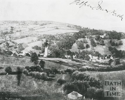 View of Northend, Batheaston from Solsbury Lane, c.1870