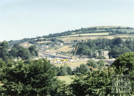 Batheaston Bypass Under Construction, From Bathampton Down, 1995