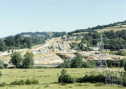 Batheaston Bypass Under Construction, 1995