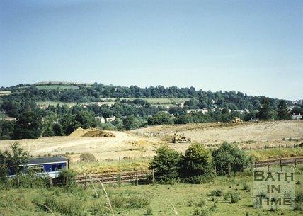 Batheaston Bypass Under Construction, 1995