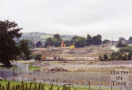 Batheaston Bypass Showing Security Fence, 1994