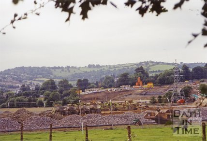 Batheaston Bypass Under Construction, 1994