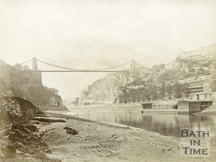 Clifton Suspension Bridge Over Avon Gorge, Bristol, c.1880