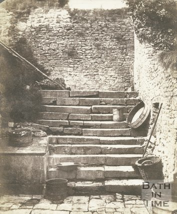 Charlcombe Manor House Old Steps, c.1850