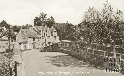 The Inn & Bridge at Freshford, 1930s