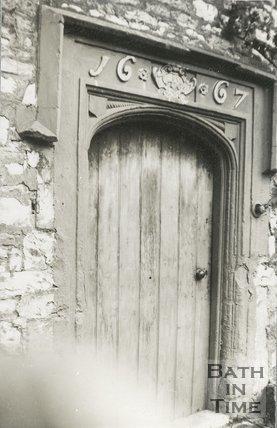 Weston Island Cottage Doorway, near Bath, c.1900