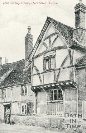 Fifteenth Century House, Lacock, Postcard, c.1910