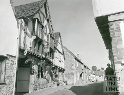 Sign Of The Angel Public House, Church Street, Lacock, 1974