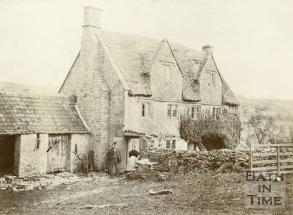 Goudies Farm, house & outhouse, Langridge, c.1880