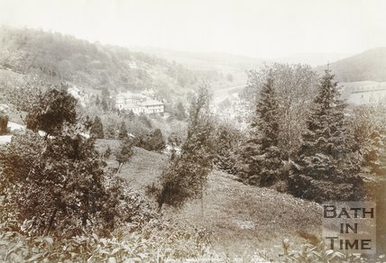 Limpley Stoke Hydropathic and view of Limpley Stoke Valley, near Bath, c.1880