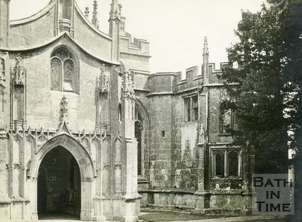 Mells, Somerset, Church Porch, c.1920?