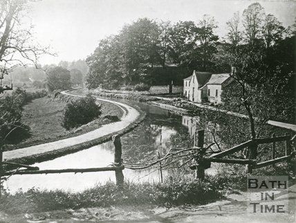 Midford, Somerset, Tucking Mill and the Somersetshire Coal Canal, c.1890?