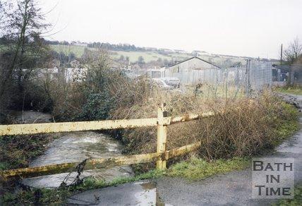 Midsomer Norton, Somerset, Somer Garage Site Fence, March 1996