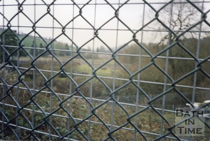 Midsomer Norton, Somerset, Somer Garage Site Wire Fence, March 1996