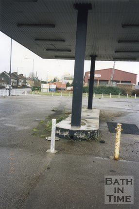 Midsomer Norton, Somerset, Somer Garage Site Forecourt, Close-Up, March 1996