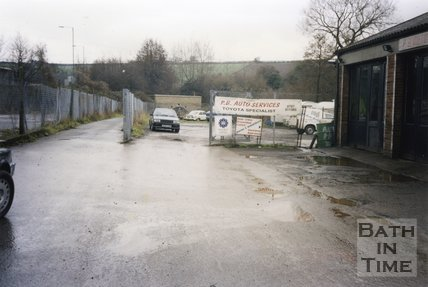 Midsomer Norton, Somerset, Somer Garage Site, P. B. Auto Services, March 1996