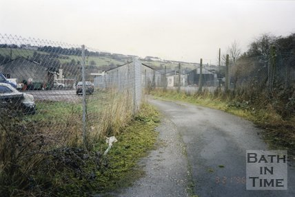 Midsomer Norton, Somerset, Somer Garage Site Fence, March 1996