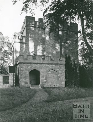 Newton St. Loe, near Bath, Keep of Castle, c.late 1940s