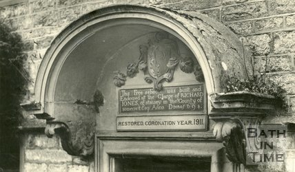 Door hood to Newton St. Loe near Bath, Free School, c.1930