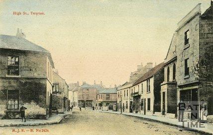 High Street, Twerton, Bath, Postcard, 1905