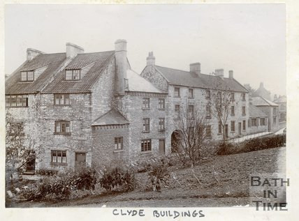 Clyde Buildings, Twerton, Bath, c.1880