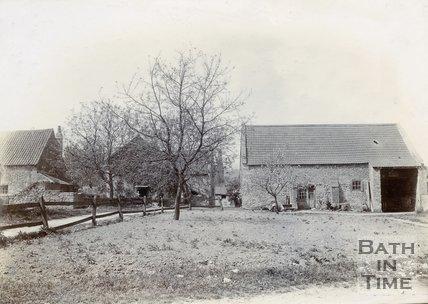 Medieval Tithe Barn, East View, Twerton, Bath, 1904