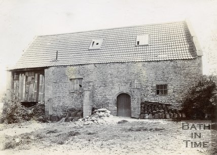 Medieval Tithe Barn, West View, Twerton, Bath, 1904