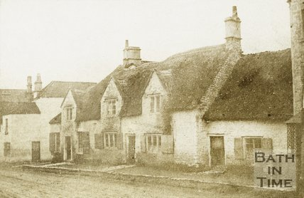 Thatched Cottages, High Street, Twerton, Bath, Before 1876