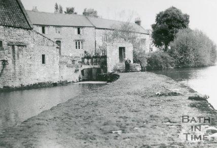 Twerton Weir, Twerton, Bath, 1938