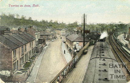 High Street and Railway Bridge, Twerton, Bath, Postcard, 1907
