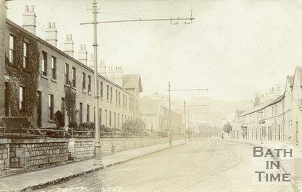 Lower Bristol Road, Twerton, Bath, Postcard, 1905