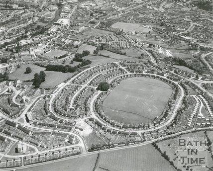 Aerial View Of Whiteway, Twerton, Bath, July 1965