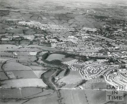 Twerton, Aerial View, Looking Towards Lower Weston, Bath, c.1960s?