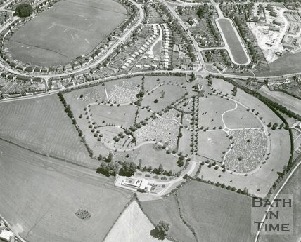 Aerial View Of Whiteway, Twerton, Bath, 1965