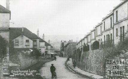 Shophouse Lane, Twerton, Bath, c.1905