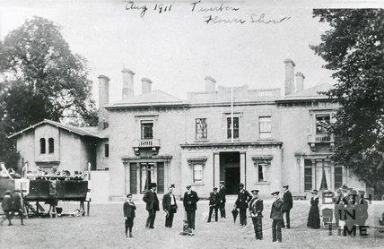Flower Show At Wood House, Twerton, Bath, 1911