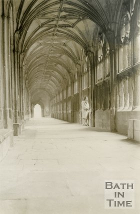 Wells Cathedral Cloister, 1945