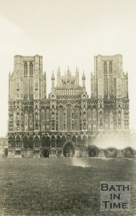 Wells Cathedral, West Front, 1945