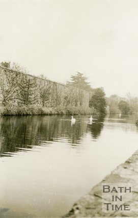 Wells, Bishop's Palace Moat, 1945